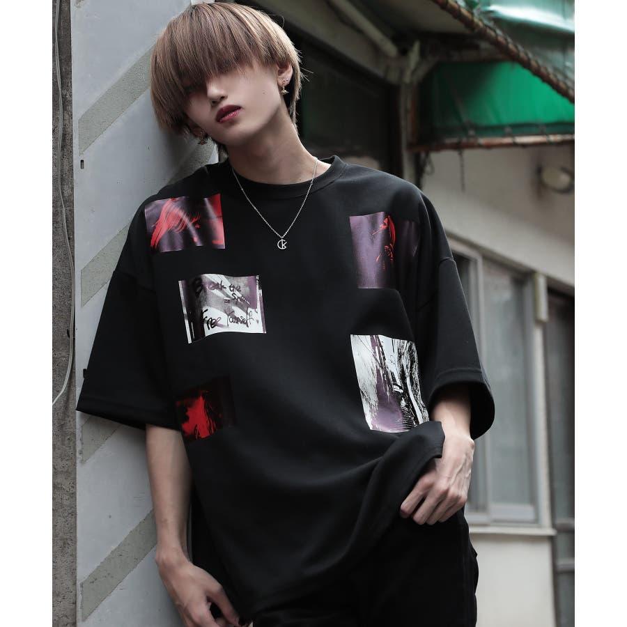 韓国 ファッション メンズ 服◆G.O.C(ジーオーシー)マルチバックプリント ビッグシルエット半袖Tシャツ◆ 21