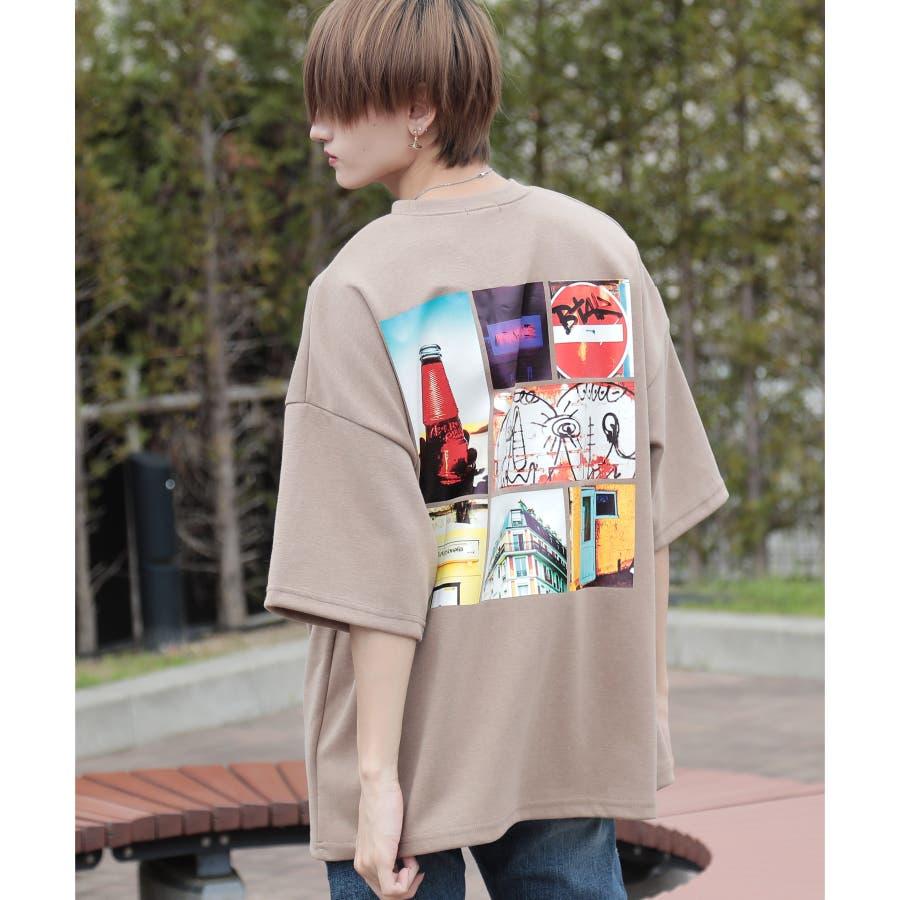 韓国 ファッション メンズ 服◆G.O.C(ジーオーシー)マルチバックプリント ビッグシルエット半袖Tシャツ◆ 41