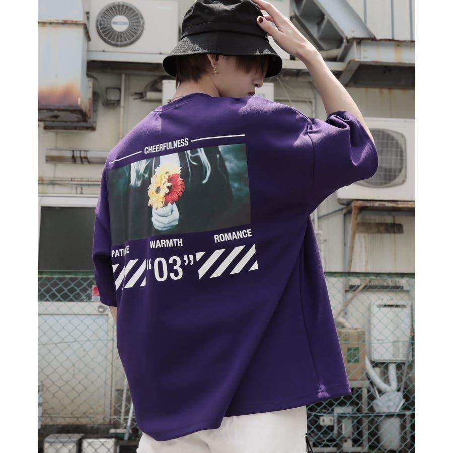 韓国 ファッション メンズ 服◆G.O.C(ジーオーシー)マルチバックプリント ビッグシルエット半袖Tシャツ◆ 77