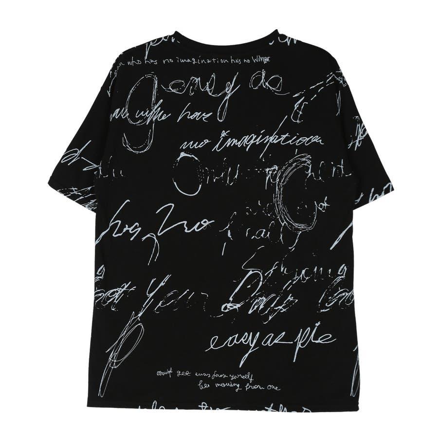 定番 韓国 服◆総柄クルーネックTシャツ◆ 4