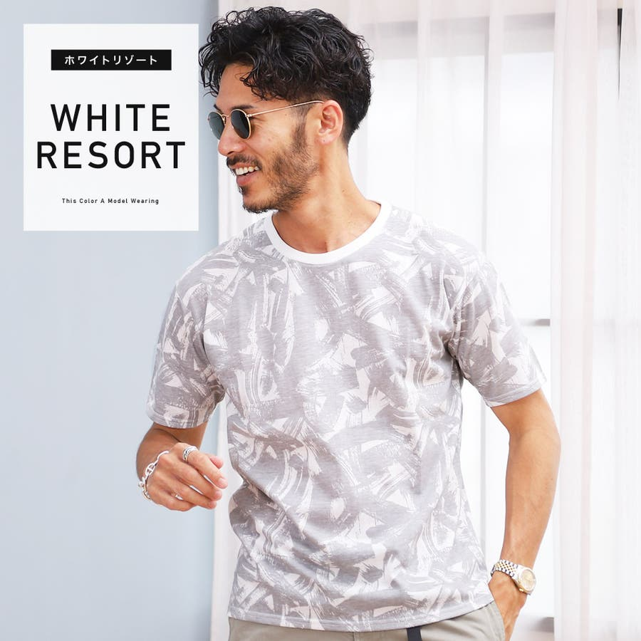 定番 韓国 服◆総柄クルーネックTシャツ◆ 16