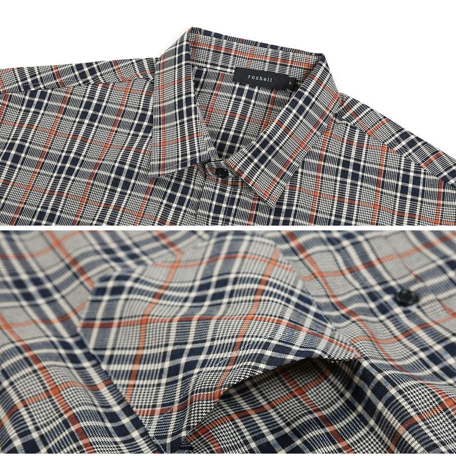 定番◆roshell(ロシェル)チェック長袖シャツ◆ 5