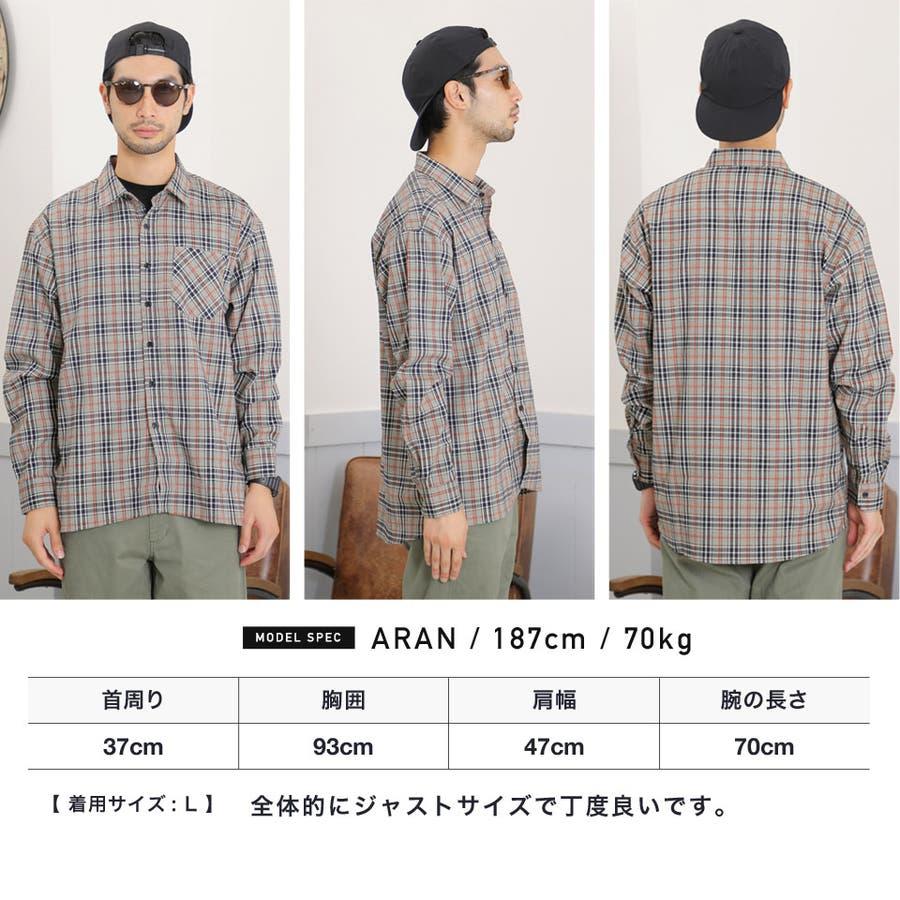 定番◆roshell(ロシェル)チェック長袖シャツ◆ 7