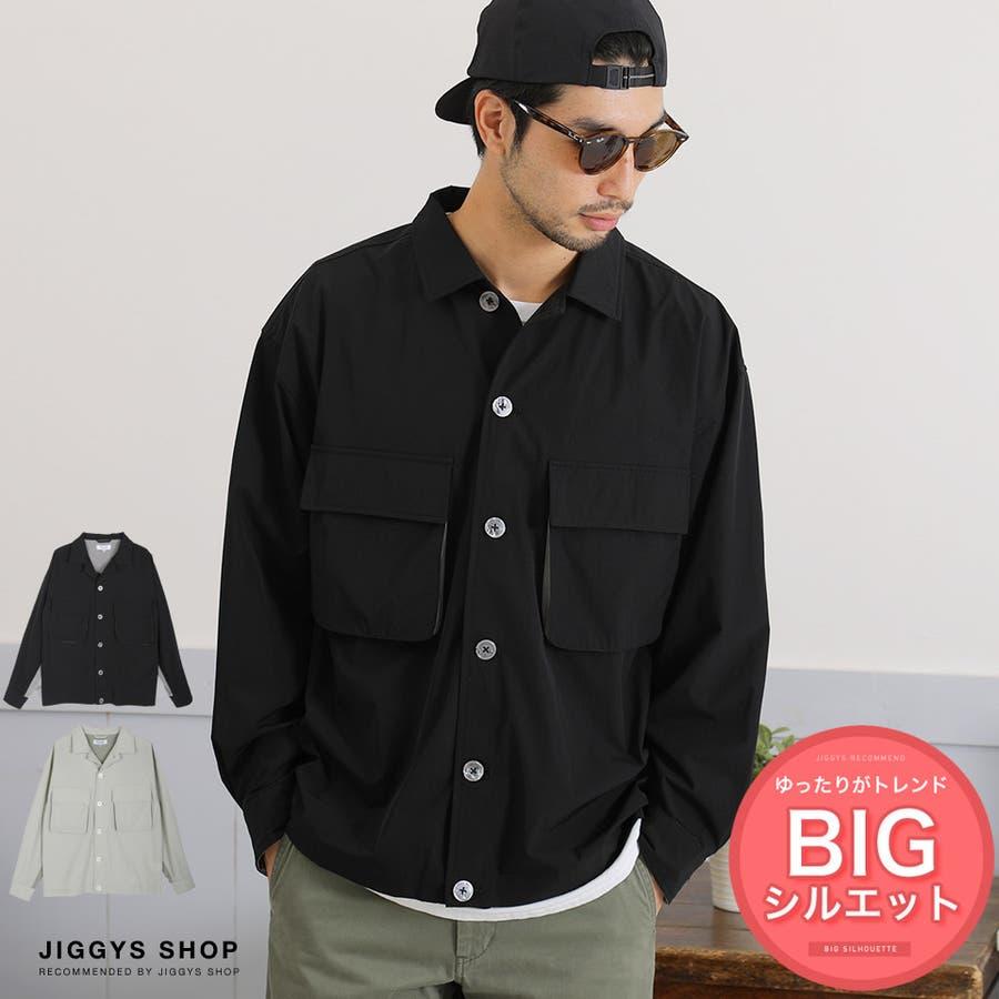 定番◆ビッグポケットバイカラーシャツ◆ 1