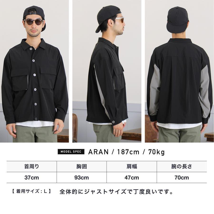 定番◆ビッグポケットバイカラーシャツ◆ 7