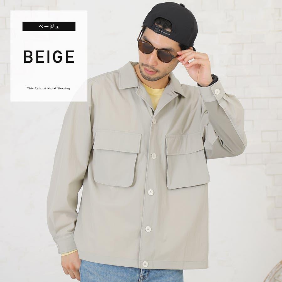 定番◆ビッグポケットバイカラーシャツ◆ 41