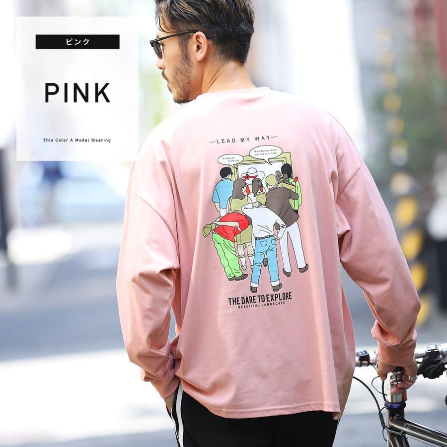 韓国 定番◆「LEAD MY WAY」バックプリントプリントロンT◆ 87