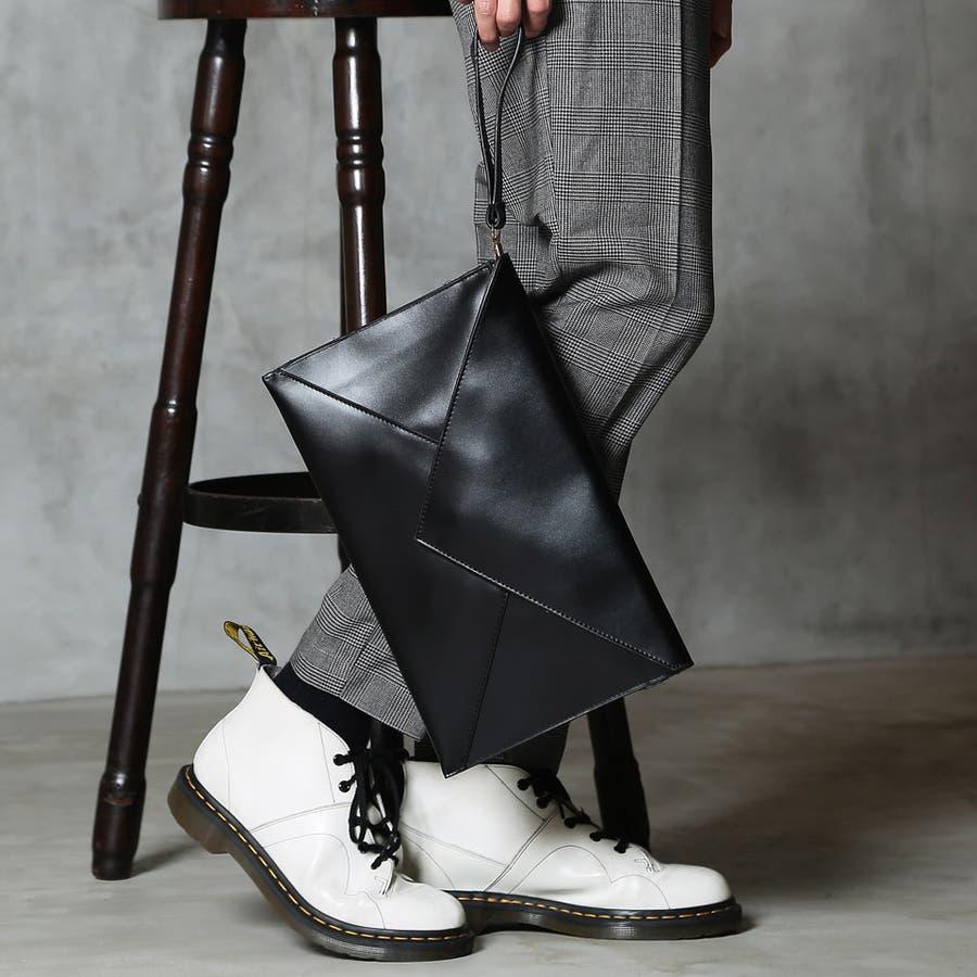◆レターフラップクラッチバッグ◆クラッチバッグ メンズ 斜めがけ バッグ 2way a4 プレゼント ギフト 男性 彼氏 父 誕生日レザー 8