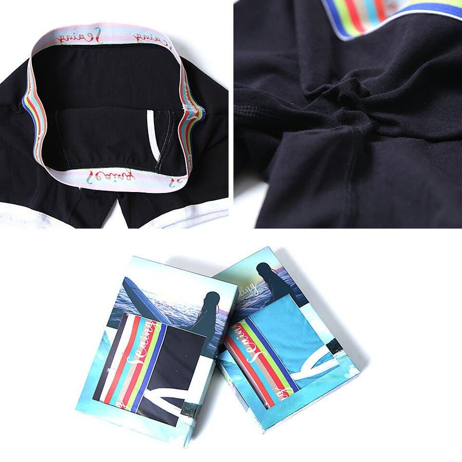 ◆ウエストカラーボーダーボクサーパンツ◆ボクサー ボクサーパンツ メンズ ブランド 下着 ボクサーブリーフ boxer briefsMen's 誕生日 プレゼント ギフト 彼氏 男性 父 5