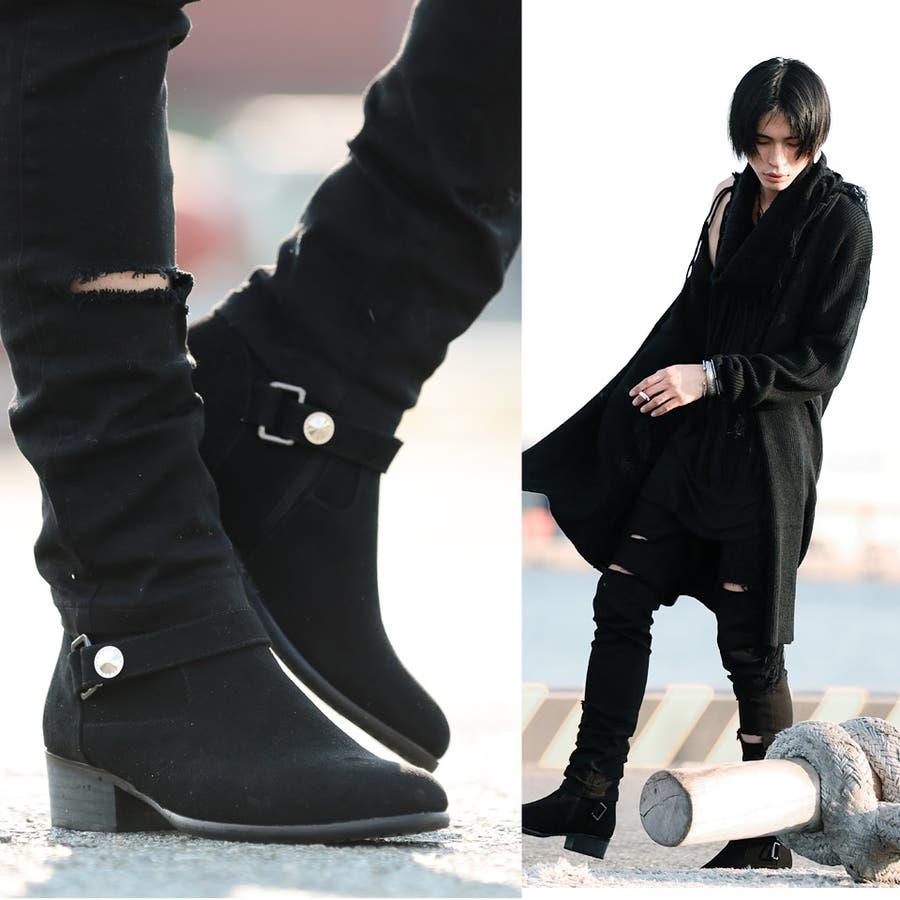 メンズ ブーツ メンズブーツ◇SEANA(シーナ)ワンストラップポインテッドブーツ◇ブーツ
