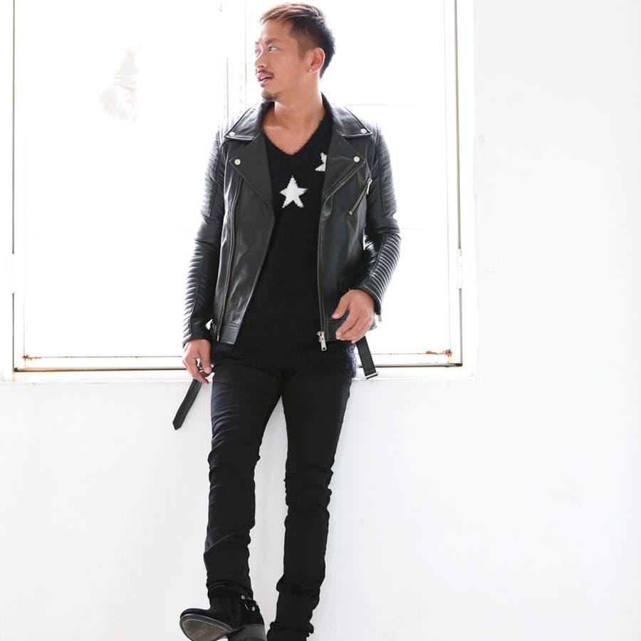 ◆roshell(ロシェル) シャギークルーネックニット&Vネックニット◆ニット セーター メンズ ニットセーター トップス ざっくりニットソー レディース 厚手 薄手 メンズファッション お兄 お兄系 ファッション 10