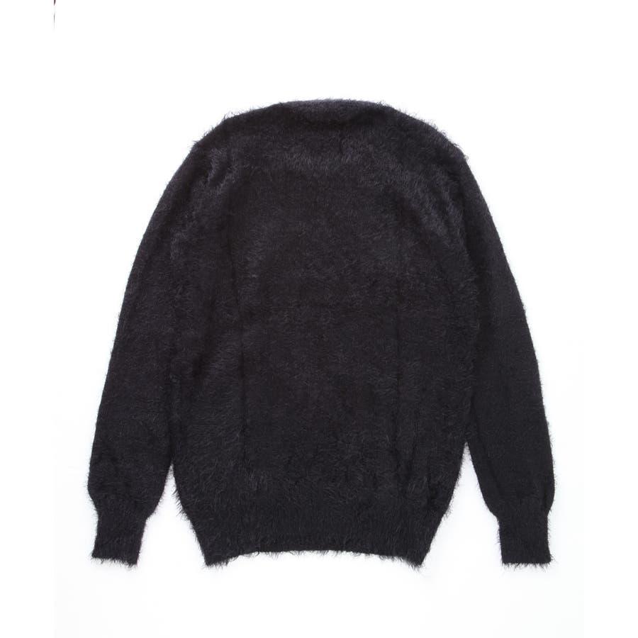 ◆roshell(ロシェル) シャギークルーネックニット&Vネックニット◆ニット セーター メンズ ニットセーター トップス ざっくりニットソー レディース 厚手 薄手 メンズファッション お兄 お兄系 ファッション 3