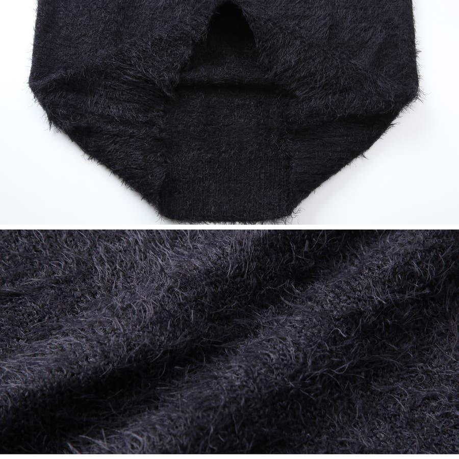 ◆roshell(ロシェル) シャギークルーネックニット&Vネックニット◆ニット セーター メンズ ニットセーター トップス ざっくりニットソー レディース 厚手 薄手 メンズファッション お兄 お兄系 ファッション 5