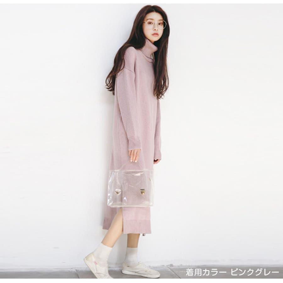 ニットワンピース レディース 春夏秋冬 7