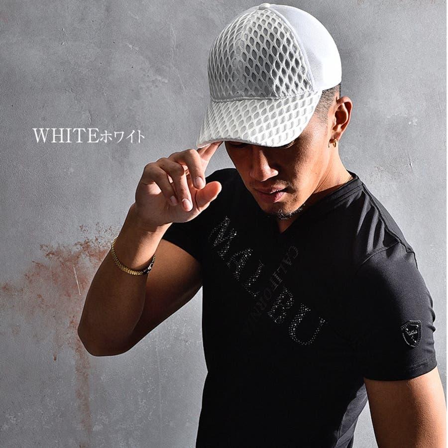 VIOLA rumore ヴィオラ キャップ メンズ 帽子 ダイヤ メッシュ ローキャップ ホワイト ブラック 夏 夏服 夏物メンズファッション ビオラ お兄系 オラオラ系 BITTER ビター系 JOKER ジョーカー 5
