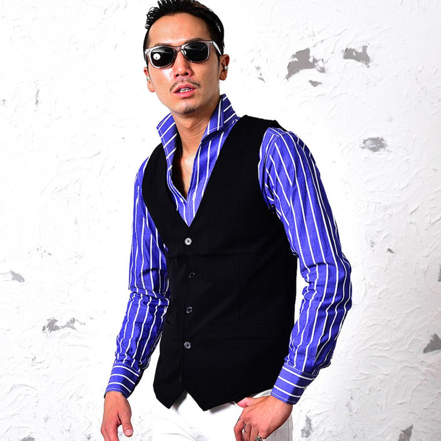 ベスト メンズ ジレ ジレベスト スーツ スピーピース 3ピース XL 結婚式 フォーマル メンズ ブラックグレーメンズファッションお兄系 春 春服 春物 ホスト オラオラ系 BITTER ビター系 joker ジョーカー SOMEDIFF 21