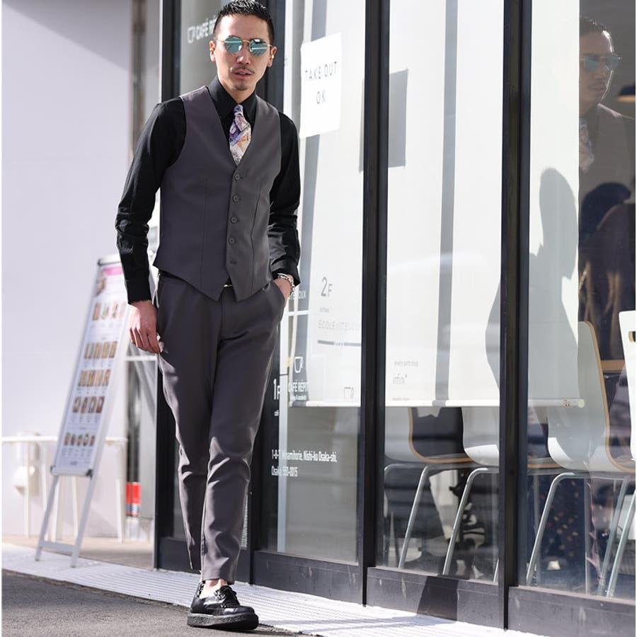 ベスト メンズ ジレ ジレベスト スーツ スピーピース 3ピース XL 結婚式 フォーマル メンズ ブラックグレーメンズファッションお兄系 春 春服 春物 ホスト オラオラ系 BITTER ビター系 joker ジョーカー SOMEDIFF 3