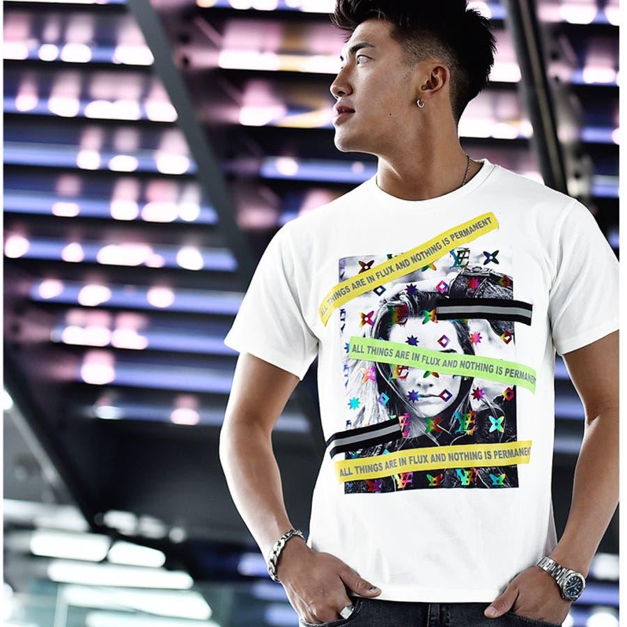 tシャツ メンズ 半袖 ロゴプリント プリントtシャツ プリント フォトプリント 夏 夏服 夏物 服 ラグジュアリー おしゃれ おもしろ かっこいい白ホワイト 黒 ブラック パロディtシャツ お兄系 ホスト オラオラ系BITTER系ビター系 7