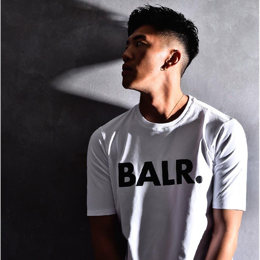 BALR ボーラー Tシャツ メンズ ロング丈 ロング カットソー オラオラ系 韓国 半袖 ゆったり おしゃれ 大きいサイズ LLXL XXL お兄系黒 白 ブラック ホワイト ストリート ビッグ ビッグシルエット 丸首 ストレッチ ブランド BRANDT-SHIRT BALR.B10001 6