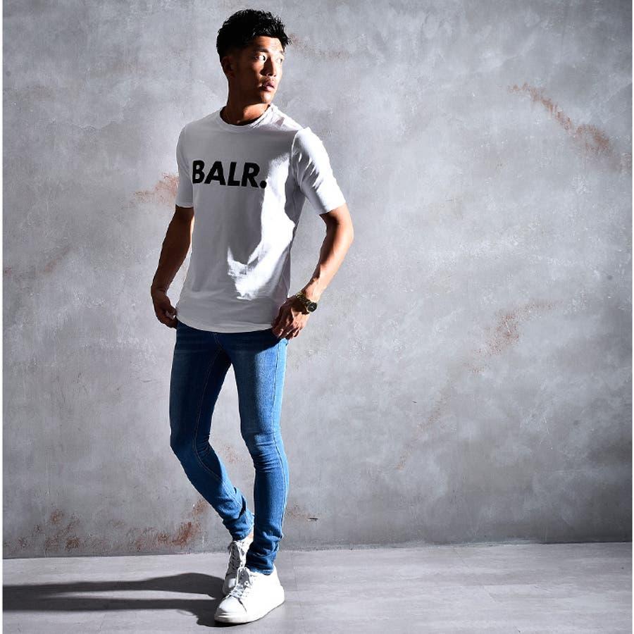 BALR ボーラー Tシャツ メンズ ロング丈 ロング カットソー オラオラ系 韓国 半袖 ゆったり おしゃれ 大きいサイズ LLXL XXL お兄系黒 白 ブラック ホワイト ストリート ビッグ ビッグシルエット 丸首 ストレッチ ブランド BRANDT-SHIRT BALR.B10001 7