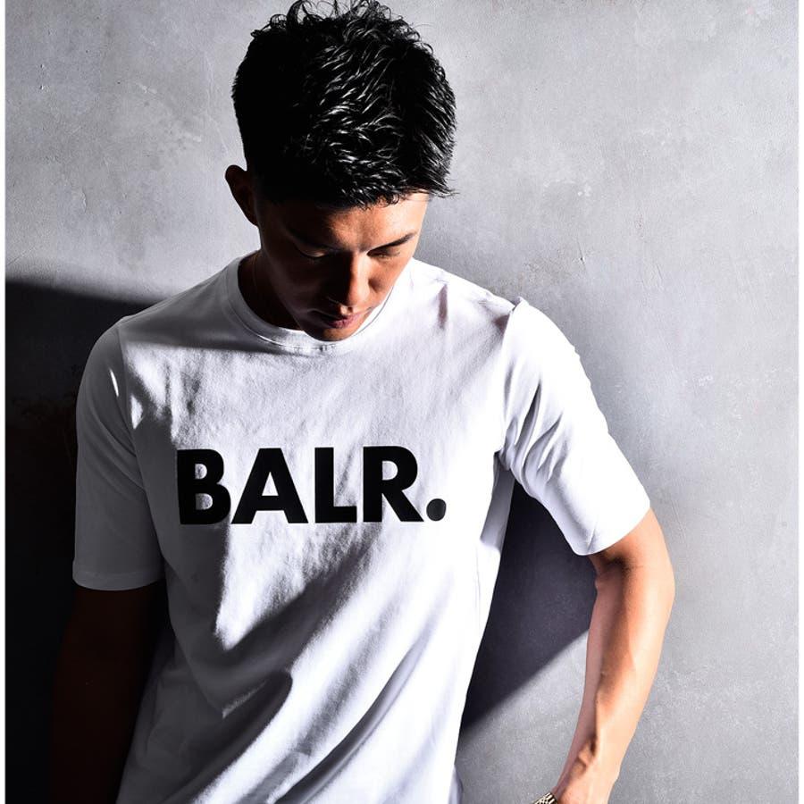 BALR ボーラー Tシャツ メンズ ロング丈 ロング カットソー オラオラ系 韓国 半袖 ゆったり おしゃれ 大きいサイズ LLXL XXL お兄系黒 白 ブラック ホワイト ストリート ビッグ ビッグシルエット 丸首 ストレッチ ブランド BRANDT-SHIRT BALR.B10001 8