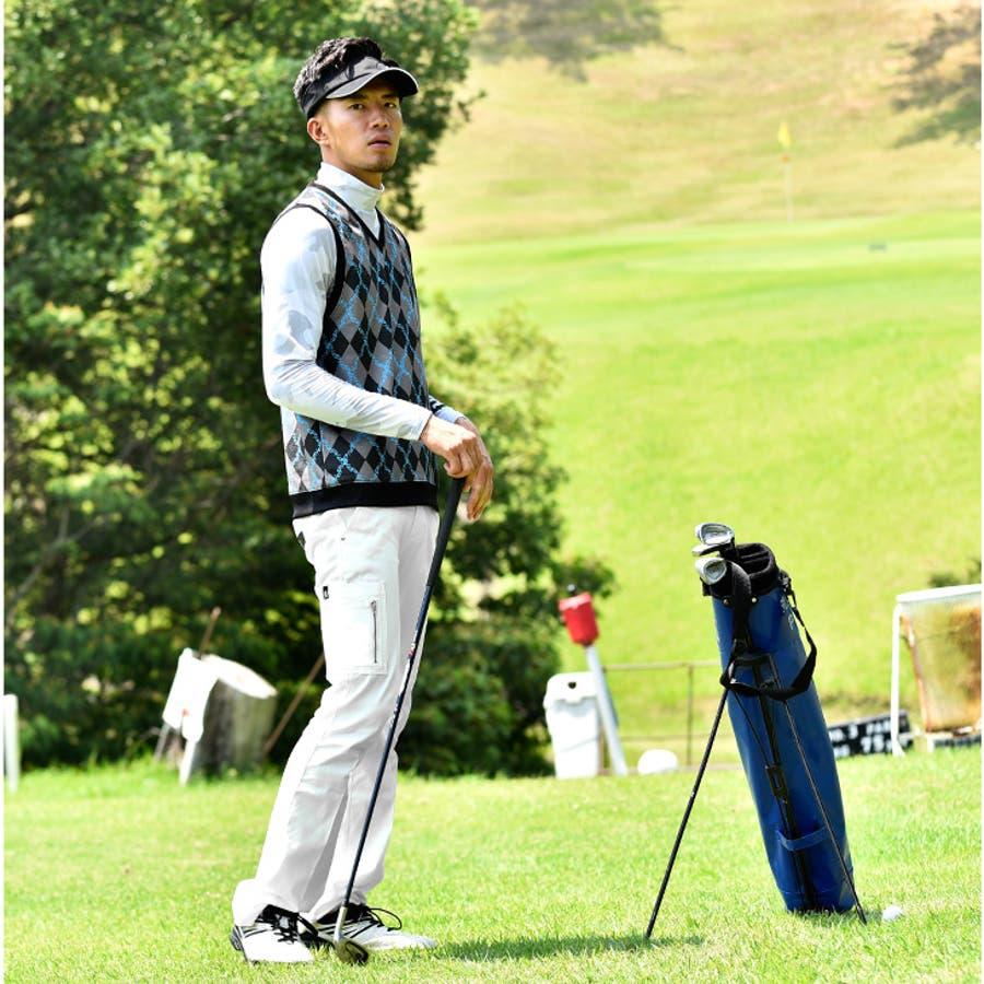 ゴルフウェア メンズ ベスト 半袖 ゴルフベスト トップス ジレ おしゃれ お洒落 派手 可愛い カワイイ ゴルフ服 ゴルフウェア半袖ポロシャツ 白 ホワイト ブラック 黒 ブルー 青 服 夏 夏服 夏物 大きいサイズ LL XL GOLF 8