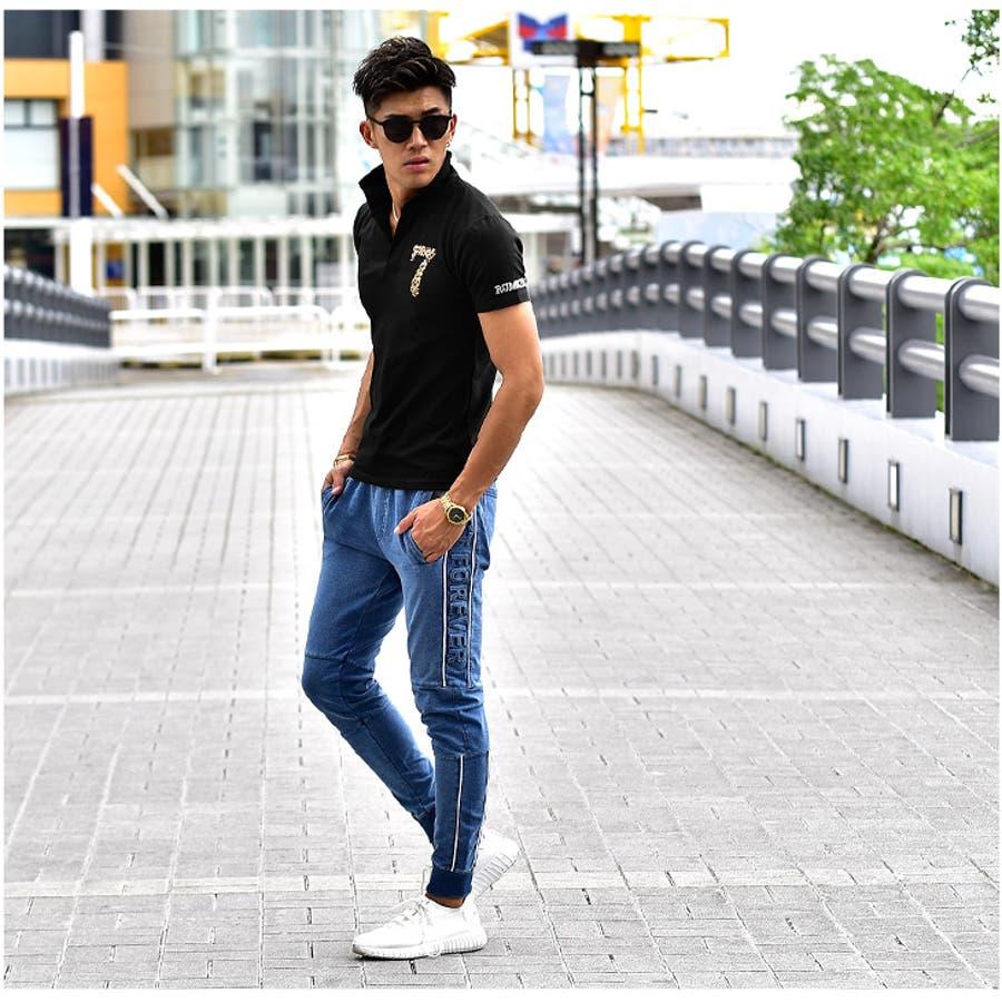 ポロシャツ メンズ 半袖 ポロ 半袖ポロシャツ ラインストーン オラオラ系 服 夏 夏服 夏物 イタリアンカラー シャツ カットソー大きいサイズ LL xlキラキラ 派手 黒 ブラック 白 ホワイト ゴルフ 細身 細め お兄系 ビター系ちょいワル 7