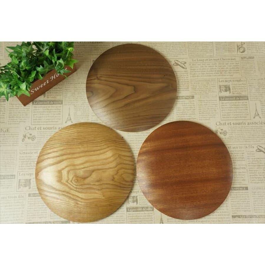 【選べる3色】33cm 木製 木 丸型 トレー トレイ L プレート 丸 サークル お盆 皿 パーティー ウッド 天然木 合板 軽い軽量 カフェ ランチ ランチプレート スタック wood plate 3