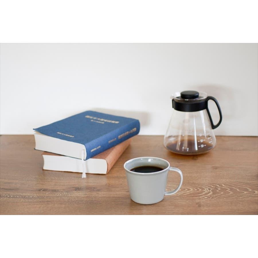 プレーリー カップ L 260cc 170g グレー マグカップ マグ スープカップ コーヒーカップ 食器 陶器 日本製 美濃焼 小田陶器 カフェ おしゃれ かわいい 北欧 北欧風 インスタ映え 食洗器対応 6