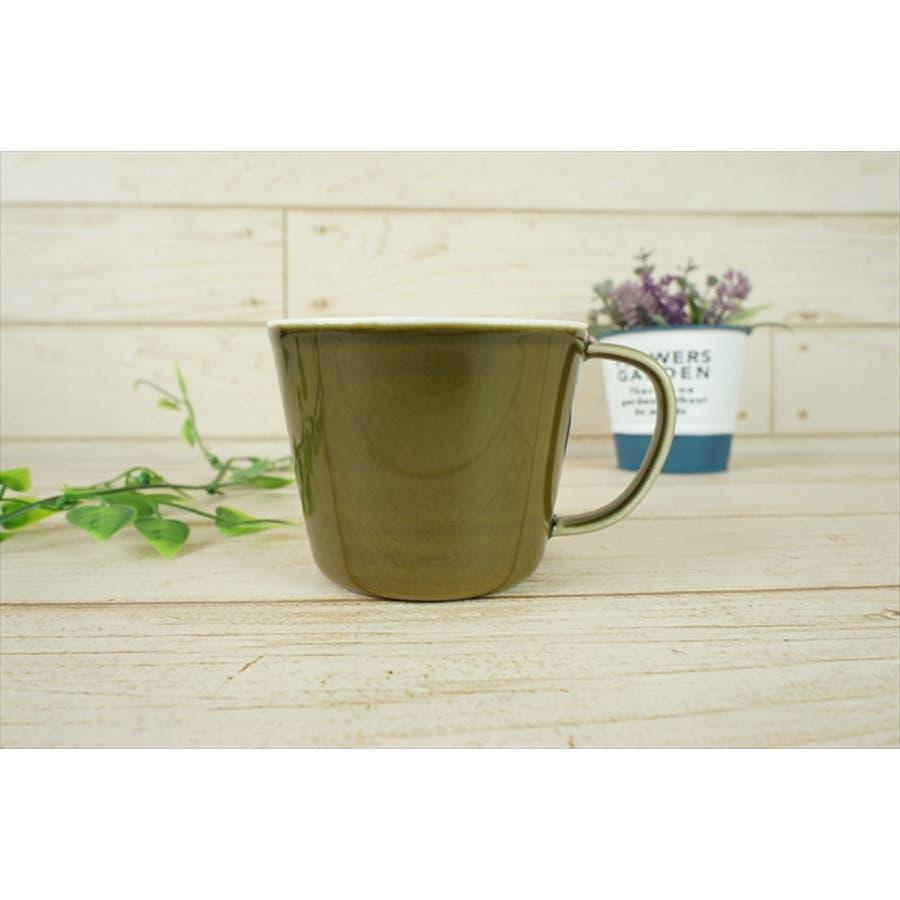 プレーリー カップ L 260cc 170g オリーブ 緑 グリーン マグカップ マグ スープカップ コーヒーカップ 食器 陶器 日本製 美濃焼 小田陶器 カフェ おしゃれ かわいい 北欧 北欧風 インスタ映え 食洗器対応 3