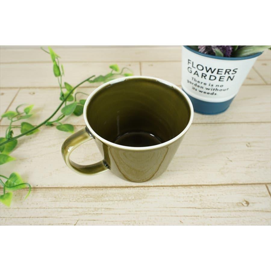 プレーリー カップ L 260cc 170g オリーブ 緑 グリーン マグカップ マグ スープカップ コーヒーカップ 食器 陶器 日本製 美濃焼 小田陶器 カフェ おしゃれ かわいい 北欧 北欧風 インスタ映え 食洗器対応 2