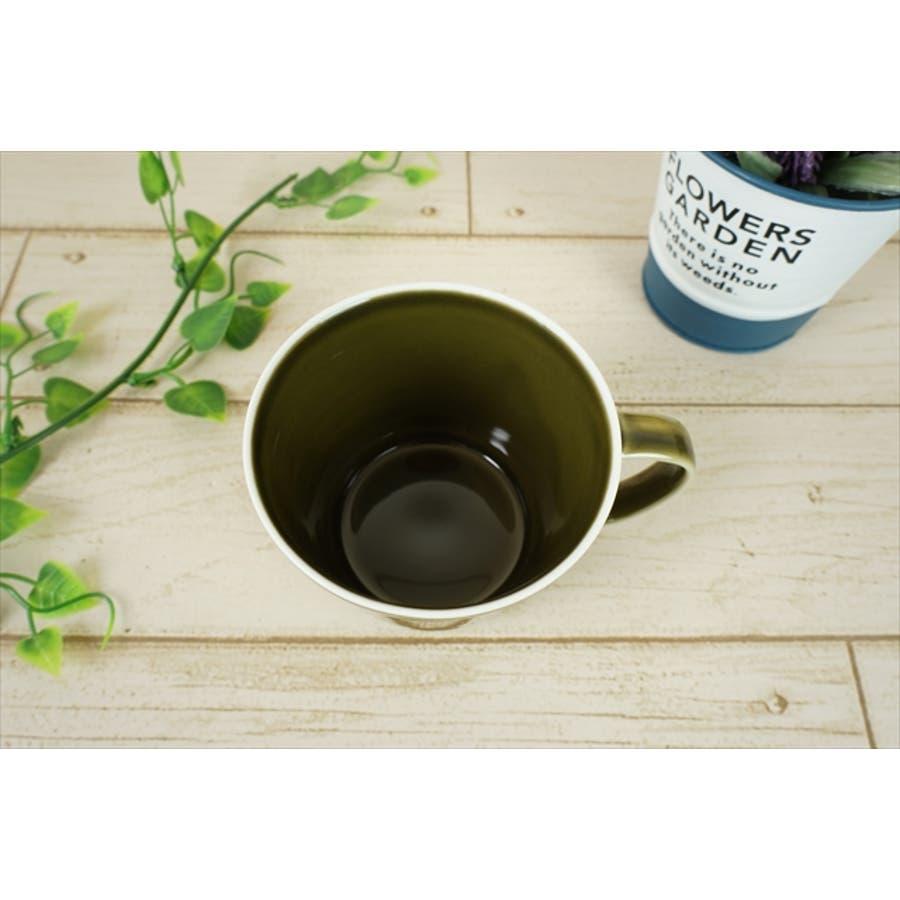プレーリー カップ L 260cc 170g オリーブ 緑 グリーン マグカップ マグ スープカップ コーヒーカップ 食器 陶器 日本製 美濃焼 小田陶器 カフェ おしゃれ かわいい 北欧 北欧風 インスタ映え 食洗器対応 4