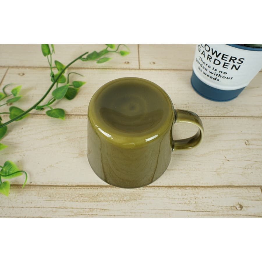 プレーリー カップ L 260cc 170g オリーブ 緑 グリーン マグカップ マグ スープカップ コーヒーカップ 食器 陶器 日本製 美濃焼 小田陶器 カフェ おしゃれ かわいい 北欧 北欧風 インスタ映え 食洗器対応 5