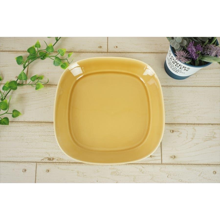 プレーリー プレート L 21.5cm 620g マスタード オレンジ お皿 パスタ皿 カレー皿 サラダ皿 食器 陶器 日本製 美濃焼小田陶器 みずなみ焼 カフェ おしゃれ かわいい 北欧 北欧風 インスタ映え 食洗器対応 3