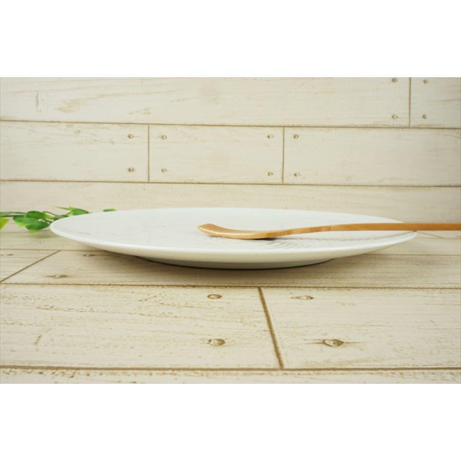 結 プレート 大皿 25.5cm 630g ホワイト 白 パスタ皿 丸皿 お祝い 結び 結婚式 食器 白磁 陶器 日本製 国産 美濃焼小田陶器 みずなみ焼 食洗器対応可 4