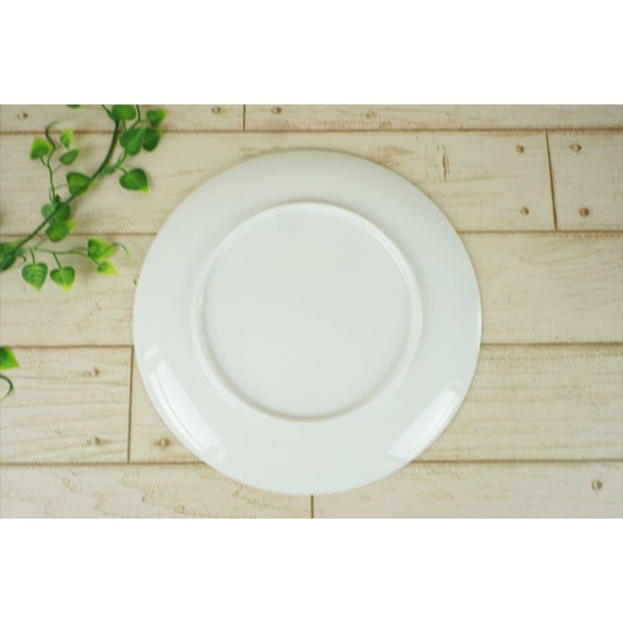 結 プレート 大皿 25.5cm 630g ホワイト 白 パスタ皿 丸皿 お祝い 結び 結婚式 食器 白磁 陶器 日本製 国産 美濃焼小田陶器 みずなみ焼 食洗器対応可 5