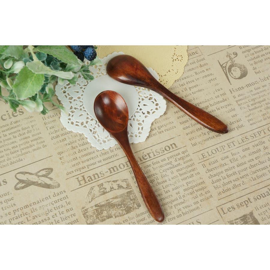 木 木製 スプーン S 12cm ブラウン 天然木 離乳食 子供 赤ちゃん キッズ ティースプーン ベビースプーン spoon 1