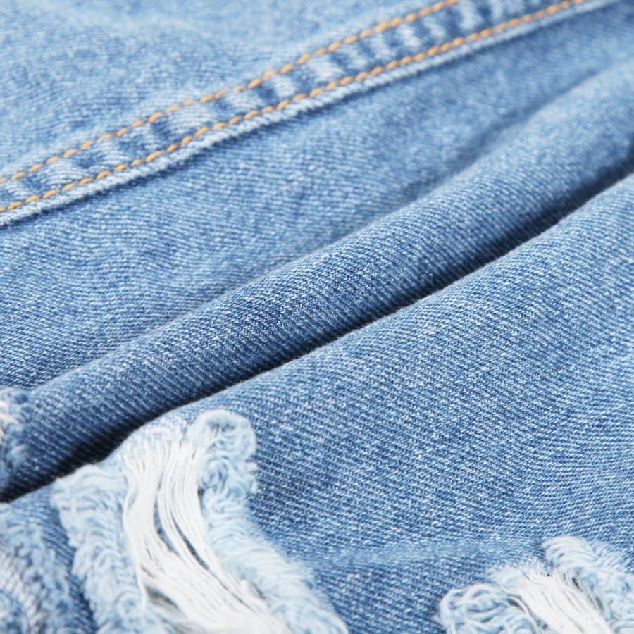 【S〜Lサイズ】大人ガーリーで年中使える♪裾切りっぱなしダメージデニムタイトスカート・ボトム/17184 6