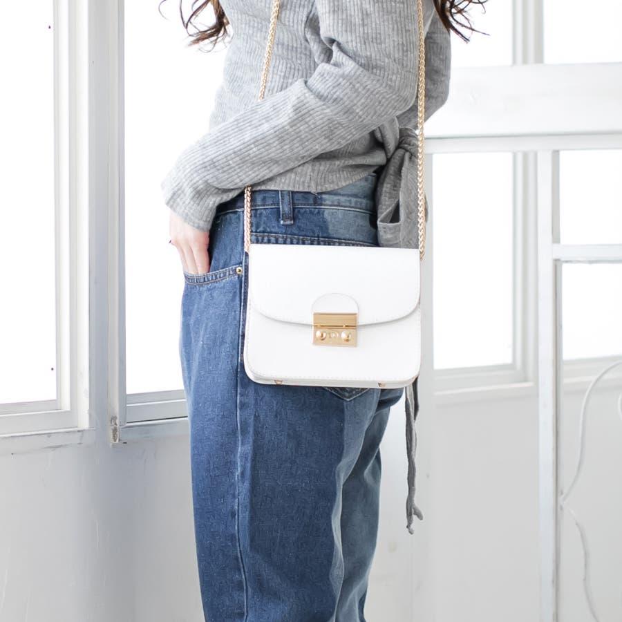 ミニサイズが今季は可愛い♪長さ調整可◎ショルダーチェーンミニバッグ・かばん/17501 1