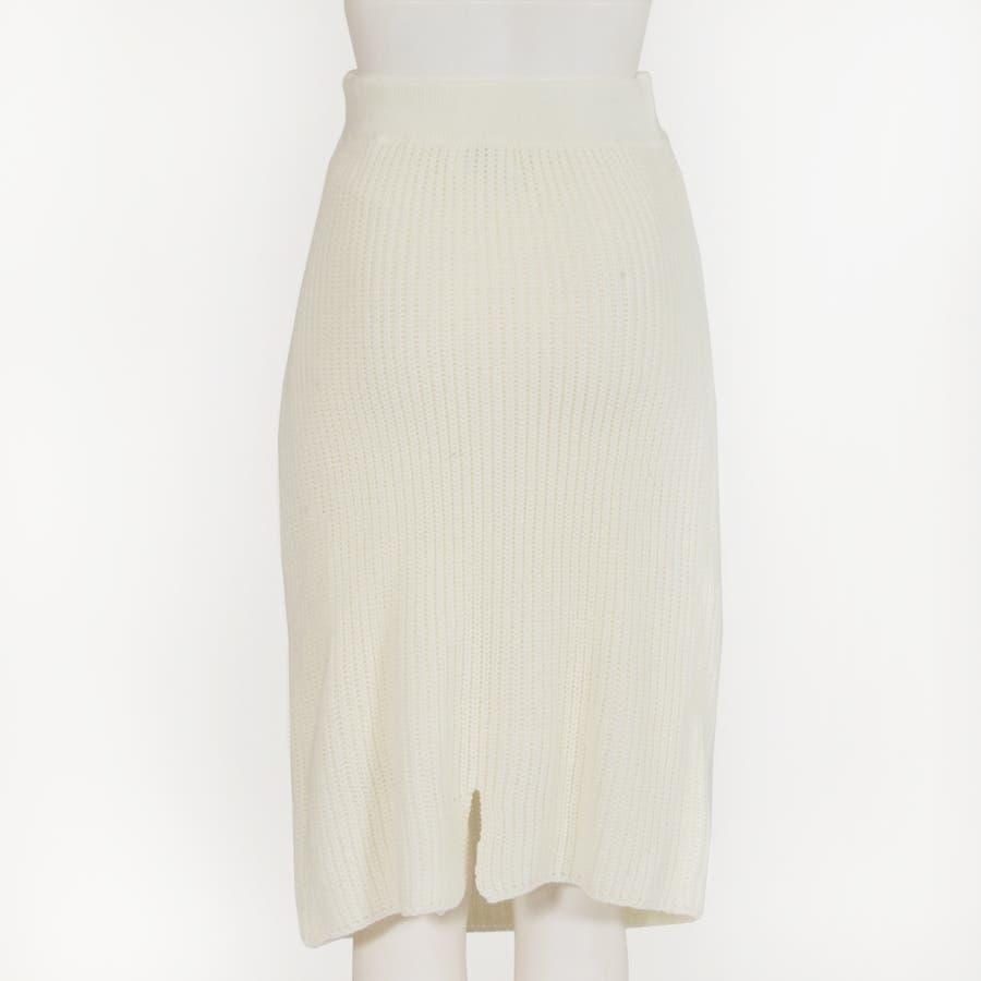 大人な今っぽ感を纏える腰巻き風デザイン♪フェイクスリーブミディアム丈ニットタイトスカート/17655 6