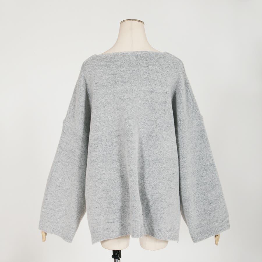 484ea9a2e590b ゆったりブークレーニットチュニック・セーター/510168[品番 ...
