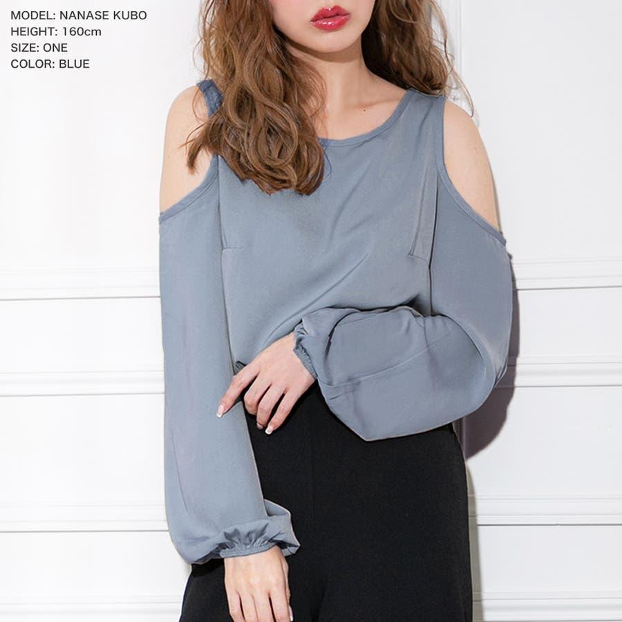 バルーン袖肩開きブラウス・トップス/520026 59