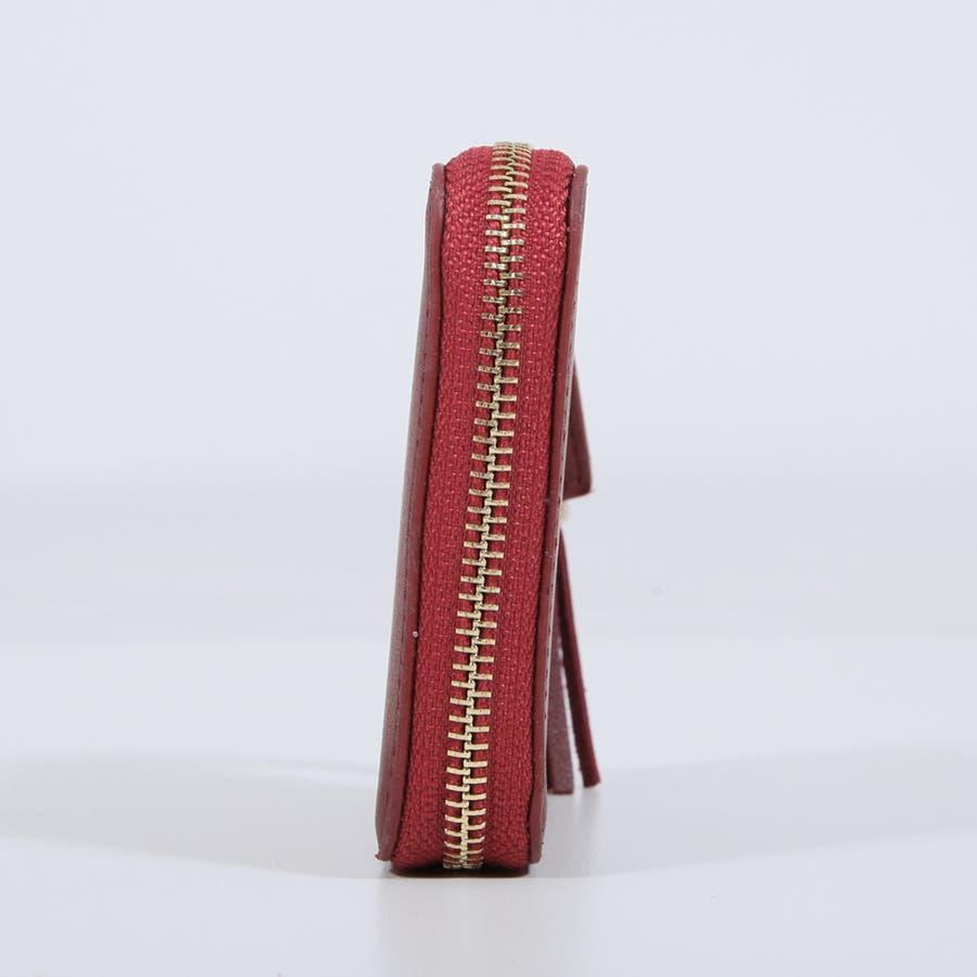 タッセル付きファスナー二つ折りウォレット・財布 [550014] 5