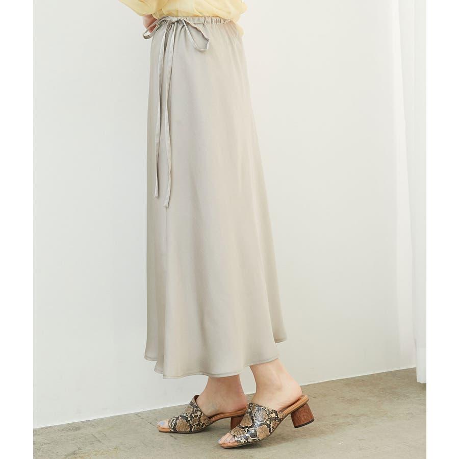 サテンサイドリボンマーメイドスカート 2
