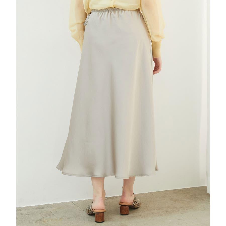 サテンサイドリボンマーメイドスカート 3