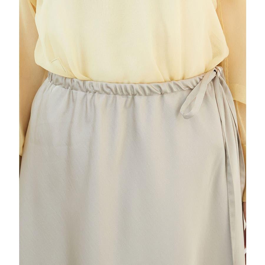 サテンサイドリボンマーメイドスカート 4