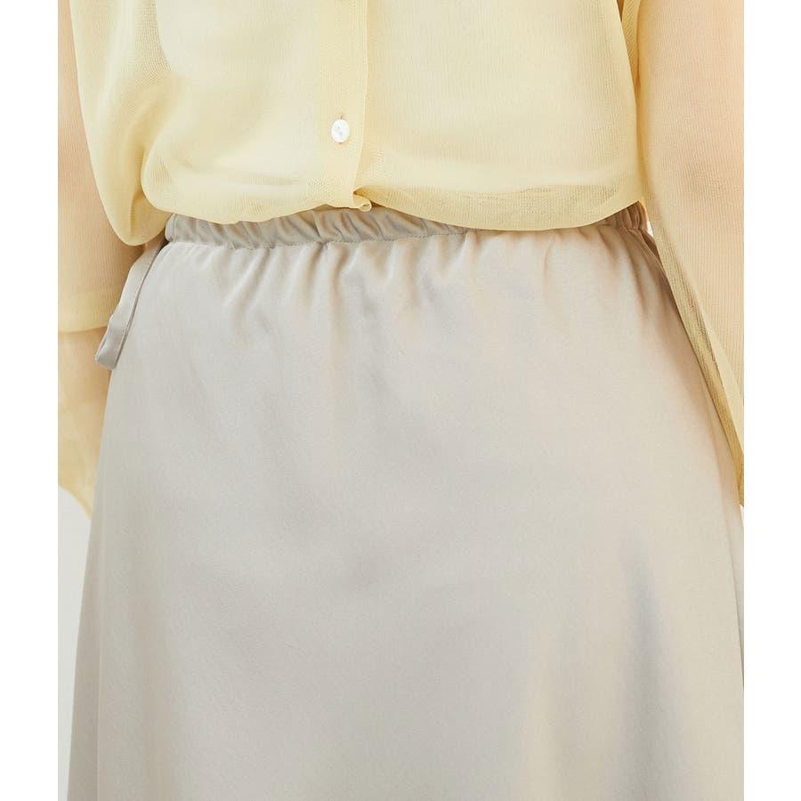 サテンサイドリボンマーメイドスカート 5