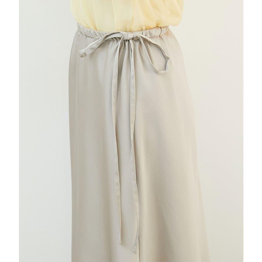サテンサイドリボンマーメイドスカート 6