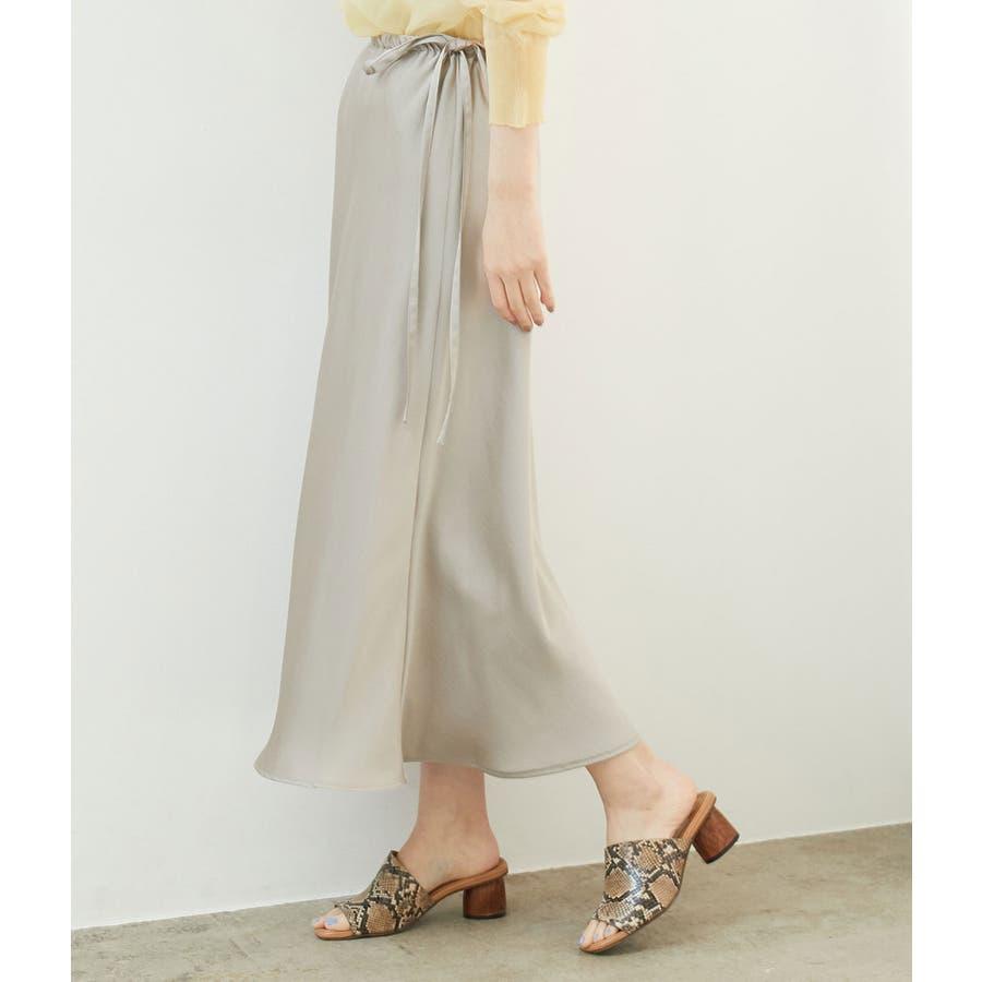 サテンサイドリボンマーメイドスカート 24