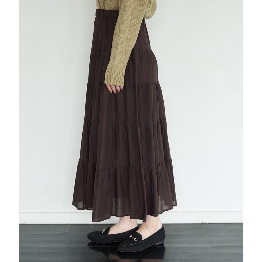 インド綿ボイルティアードスカート 2